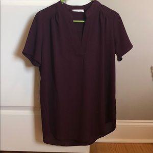 Wine blouse